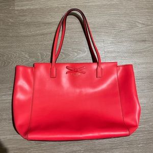 Large Kate Spade Tote Pink/Red